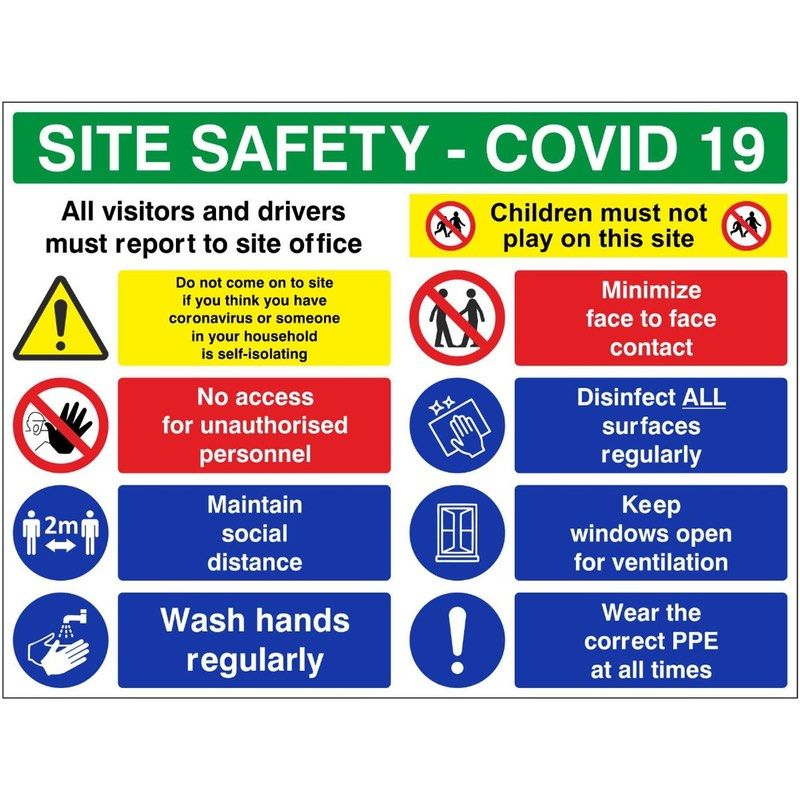 Coronavirus Construction Signs