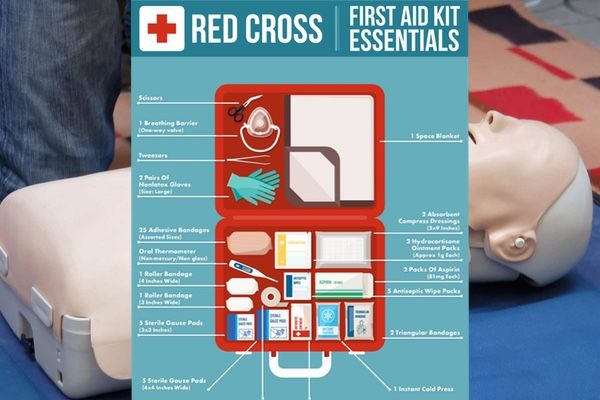 First Aid Kit Essentials - as recommended by the Red Cross