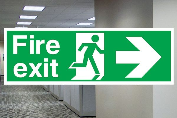 Where do I fit Fire Exit Signs? - A user guide