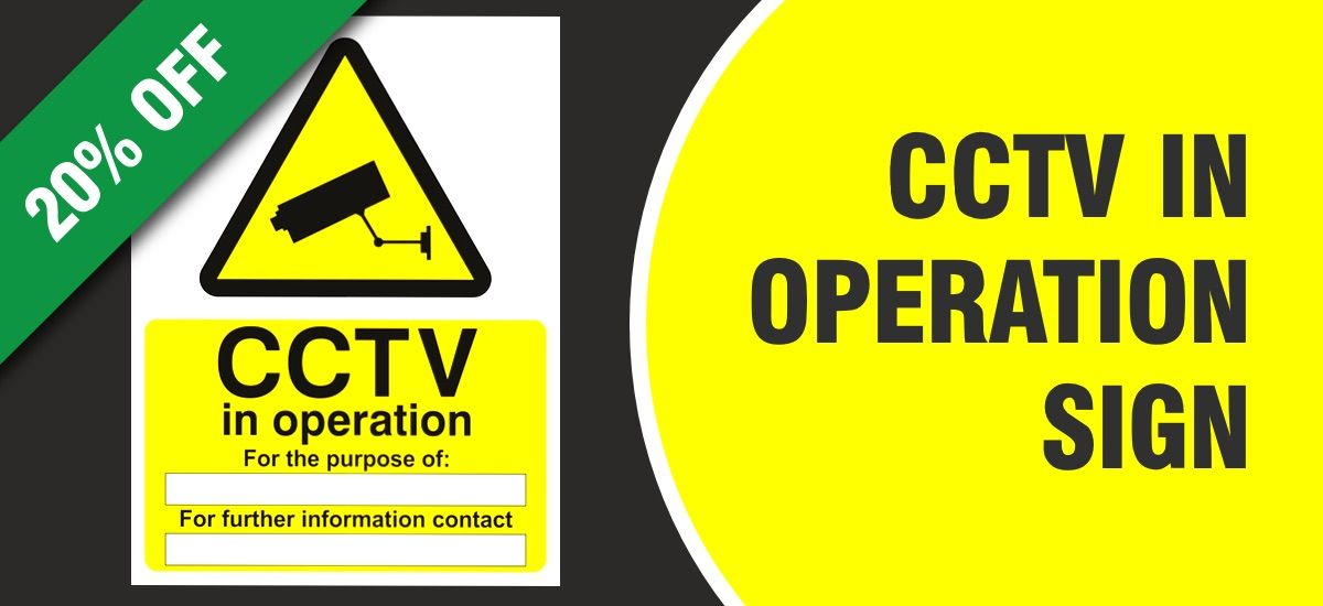 CCTV Sign with 20% Discount Offer