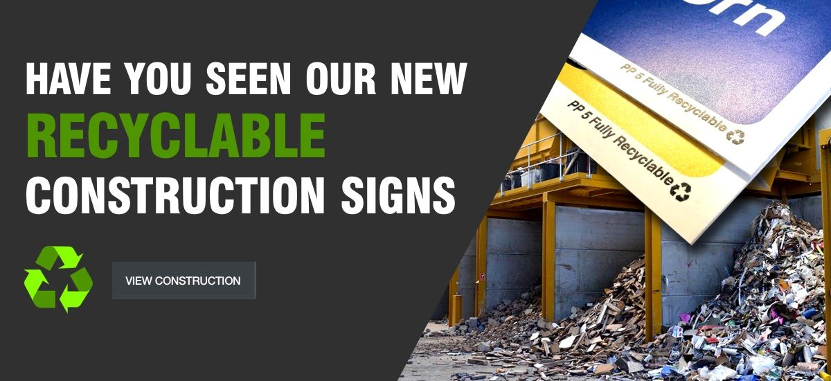 Recyclable Correx Construction Signs