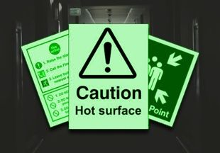 Glow In Dark Photoluminescent Safety Signs