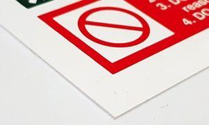 Rigid Plastic Sign Material