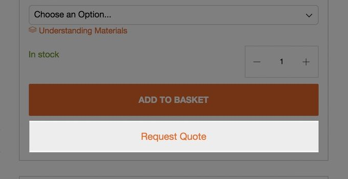 Add products to your Quote Request